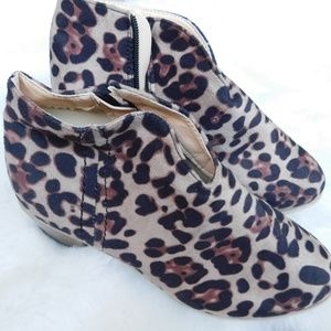 Like new Leopard Print Ankle Booties